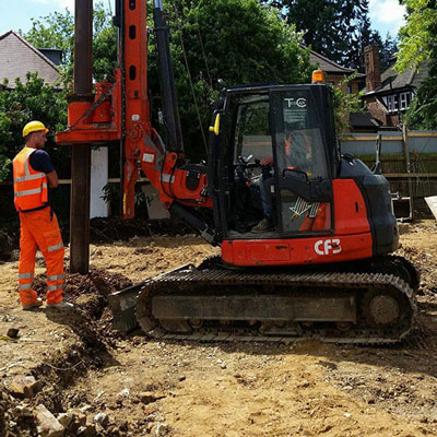 mini piling contractors london uk
